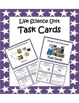 Life Science Task Cards Bundle - 4th Grade