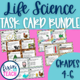 Life Science Task Cards Bundle {QR Code Answers}