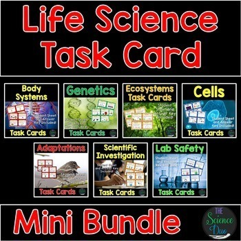 Life Science Task Cards Bundle