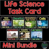 Life Science Task Cards Bundle - Distance Learning Compatible
