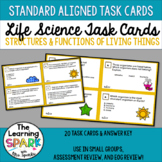 Life Science Task Cards: Structures and Functions of Living Things