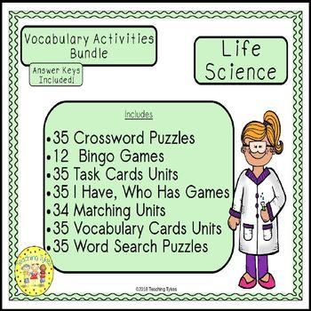 Life Science Vocabulary Activities