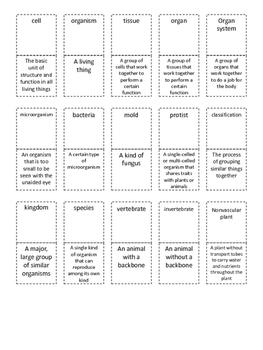 Life Science Vocabulary---Fifth Grade