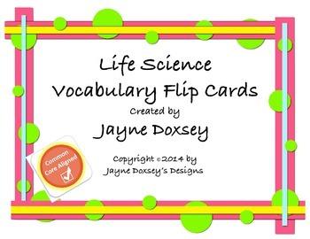 Life Science Vocabulary Flip Cards