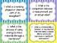 Life Science Vocabulary Review Question Cards Year Round & Test Prep