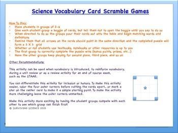 Life Science Vocabulary Scramble : FOOD WEB RELATIONS (TX TEKS 8.11A)