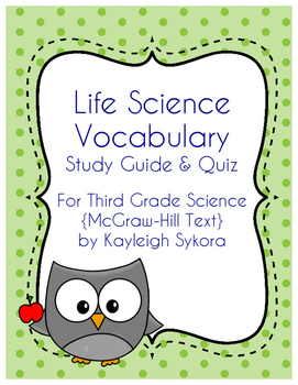 Life Science Vocabulary - Third Grade