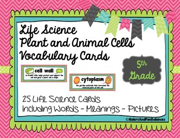 Life Science Vocabulary Word Wall Bundle - includes all 4 units