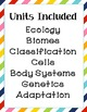 Life Science Vocabulary, Word Wall, Definitions for the WHOLE YEAR