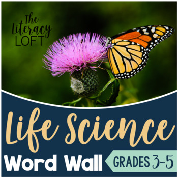 Life Science Vocabulary for Word Wall