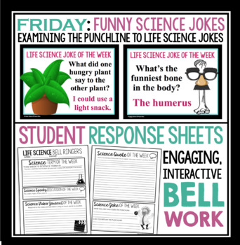 Life Science Warm Ups and Bell Ringers - Full Year Resource