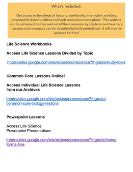 Life Science Website 1 year access