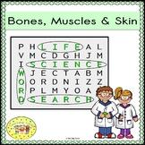 Bones Muscle Skin Word Search