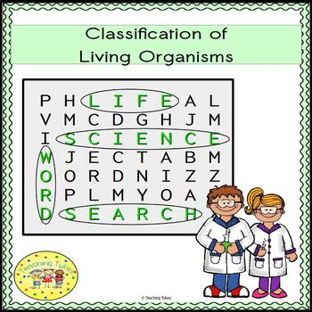 Classification of Living Organisms Word Search