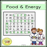 Food and Energy Word Search