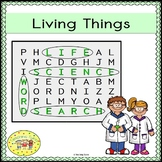 Living Things Word Search
