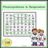 Photosynthesis Respiration Word Search