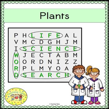 Plants Word Search