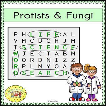 Protists and Fungi Word Search