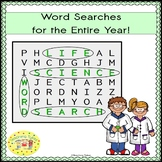 Life Science Word Search Puzzles