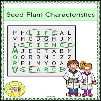 Seed Plant Characteristics Word Search