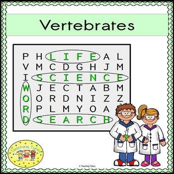 Vertebrates Word Search