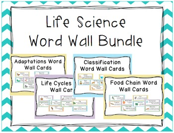 Life Science Word Wall