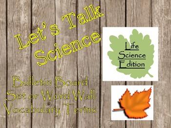 Life Science Word Wall/Bulletin Board display
