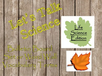 Life Science Word Wall/Bulletin Board display