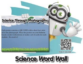 Life Science Word Wall with QR Codes