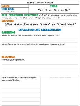 NGSS Writing: Life Science