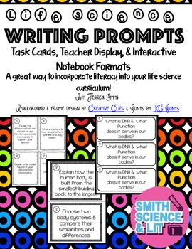Life Science Writing Prompts