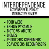 Life Science and Interdependence Interactive Flipchart Review