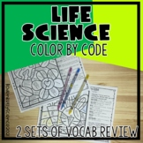 Life Science Vocabulary color a word