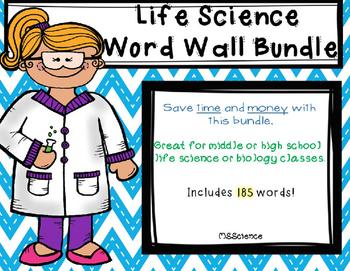 Life Science or Biology Word Wall Bundle