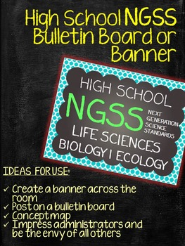 Life Sciences Biology Ecology NGSS Bulletin Board Poster