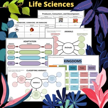Life Sciences Graphic Organizer Bundle