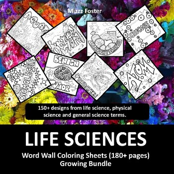 Life Sciences Posters 120+ Vocabulary Terms: Biology, Anatomy, Ecology
