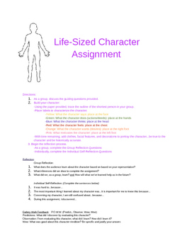 Life Size Character Activity