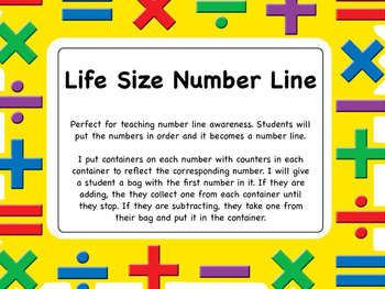 Life Size Number Line  to 20 - number line students can act out story problems