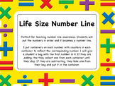 Life Size Number Line  to 20 - number line students can ac