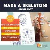 Life Size Printable Human Body Skeleton |  Distance Learning