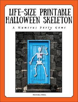 Life Size Printable Skeleton for Anatomy Lesson or Halloween Games