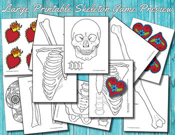 photo about Skeleton Printable named Lifetime Measurement Printable Skeleton for Anatomy Lesson or Halloween Online games