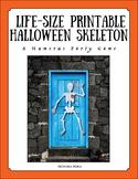 Life Size Printable Skeleton for Anatomy Lesson or Hallowe