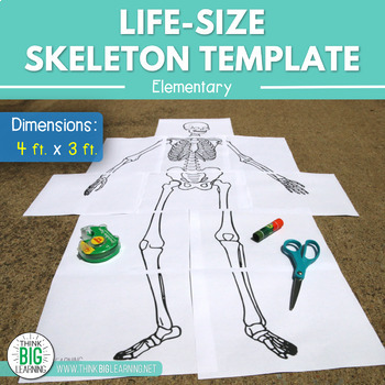 It is an image of Life Size Printable Skeleton for pdf