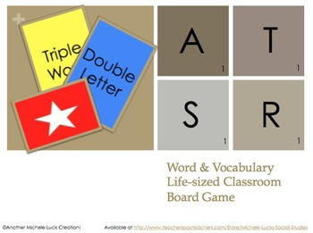 Life-Size Scrabble Word Game Human Game Board for Classroom Review
