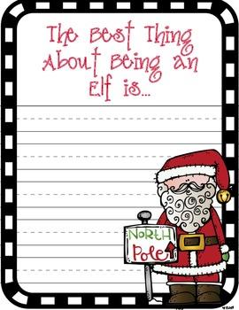 Life Sized Elves: A Christmas Craftivity with 7 Printables