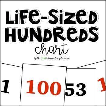 Life Sized Hundreds Chart Cards