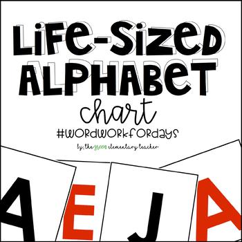 Life Sized Hundreds Chart Letter Cards